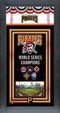 Pittsburgh Pirates Framed Championship Banner Framed Memorabilia