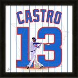 Starlin Castro, Cubs representation of the player's jersey Framed Memorabilia