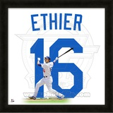 Andre Ethier, Dodgers representation of the player&#39;s jersey Framed Memorabilia