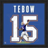 Tim Tebow, University of Florida representation of the player's jersey Framed Memorabilia