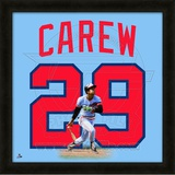 Rod Carew, Twins representation of the player's jersey Framed Memorabilia