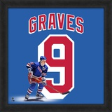 Adam Graves, Rangers representation of the player's jersey Framed Memorabilia