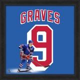 Adam Graves, Rangers representation of the player's jersey Framed Memorabilia