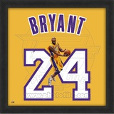 Kobe Bryant, Lakers photographic representation of the player's jersey Framed Memorabilia