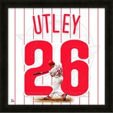 Chase Utley, Phillies representation of the player&#39;s jersey Framed Memorabilia
