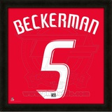 Kyle Beckerman, Real Salt Lake representation of the player&#39;s jersey Framed Memorabilia