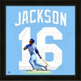 Bo Jackson, Royals representation of the player's jersey Framed Memorabilia