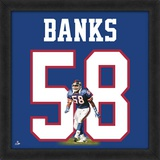 Carl Banks, Giants representation of the player's jersey Framed Memorabilia