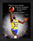 Magic Johnson ProQuote Framed Memorabilia