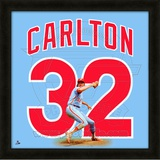 Steve Carlton, Phillies representation of the player's jersey Framed Memorabilia