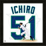 Ichiro Suzuki, Mariners representation of the player's jersey Framed Memorabilia