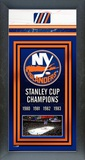 New York Islanders Framed Championship Banner Framed Memorabilia