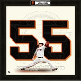 Tim Lincecum, Giants representation of the player's jersey Framed Memorabilia