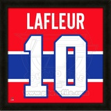 Guy Lafleur, Canadiens photographic representation of the player&#39;s jersey Framed Memorabilia