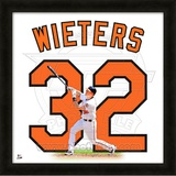 Matt Wieters, Orioles representation of the player&#39;s jersey Framed Memorabilia
