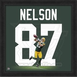 Jordy Nelson, Packers representation of the player's jersey Framed Memorabilia