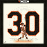 Orlando Cepeda, Giants representation of the player's jersey Framed Memorabilia