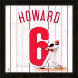 Ryan Howard, Phillies representation of the player's jersey Framed Memorabilia
