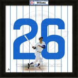 Billy Williams, Cubs representation of the player's jersey Framed Memorabilia