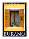 Burano Window, Italy 19 Giclee Print by Anna Siena