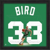 Larry Bird, Celtics photographic representation of the player&#39;s jersey Framed Memorabilia