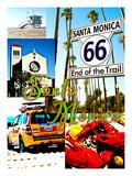 Visit Santa Monica 4 Giclee Print by Victoria Hues