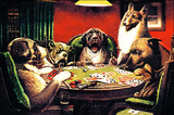 Waterloo - Dogs Playing Poker Postcard Print by Cassius Marcellus Coolidge