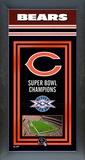 Chicago Bears Framed Championship Banner Framed Memorabilia