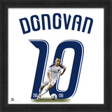 Landon Donovan, Galaxy representation of the player's jersey Framed Memorabilia