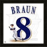 Ryan Braun, Brewers representation of the player's jersey Framed Memorabilia