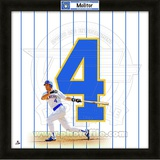 Paul Molitor, Brewers representation of the player&#39;s jersey Framed Memorabilia