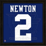 Cam Newton, Auburn University Tigers representation of the player's jersey Framed Memorabilia