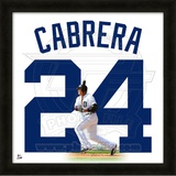 Miguel Cabrera, Tigers representation of the player&#39;s jersey Framed Memorabilia