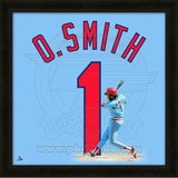 Ozzie Smith, Cardinals representation of the player&#39;s jersey Framed Memorabilia