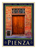 Door in Pienza Tuscany 6 Giclee Print by Anna Siena