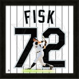 Carlton Fisk, White Sox representation of the player's jersey Framed Memorabilia