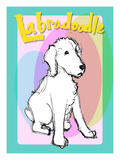 Labradoodle 2 Giclee Print by Cathy Cute