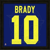 Tom Brady, University of Michigan representation of the player's jersey Framed Memorabilia