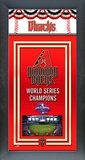 Arizona Diamondbacks Framed Championship Banner Framed Memorabilia