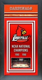 University of Louisville Basketball Framed Championship Banner Framed Memorabilia