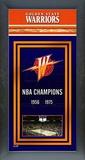 Golden State Warriors Framed Championship Banner Framed Memorabilia