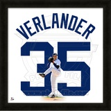 Justin Verlander, Tigers representation of the player's jersey Framed Memorabilia