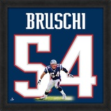 Tedy Bruschi, Patriots representation of the player's jersey Framed Memorabilia