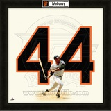 Willie McCovey, Giants representation of the player's jersey Framed Memorabilia