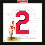 Red Schoendienst, Cardinals representation of the player's jersey Framed Memorabilia