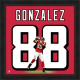 Tony Gonzalez, Falcons representation of the player's jersey Framed Memorabilia
