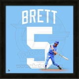 George Brett, Royals representation of the player's jersey Framed Memorabilia