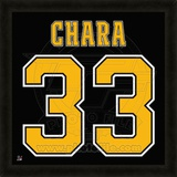 Zdeno Chara, Bruins photographic representation of the player's jersey Framed Memorabilia