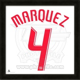 Rafa Marquez, Red Bulls  representation of the player&#39;s jersey Framed Memorabilia