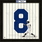 Yogi Berra, Yankees representation of the player's jersey Framed Memorabilia